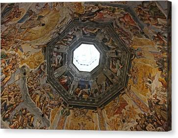 Duomo Dome Detail Canvas Print by Ziv Kruger
