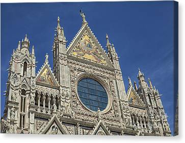 Duomo In Sienna, Italy Canvas Print by Patricia Hofmeester
