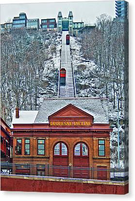 Duquesne Incline Canvas Print by Mark Dottle