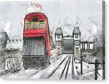 Duquesne Incline Canvas Print by Matt Matthews