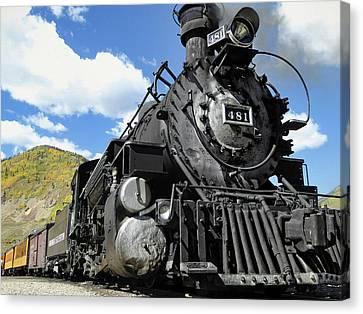 Durango Silverton Locomotive 481 - Pride Of Colorado Canvas Print by Daniel Hagerman