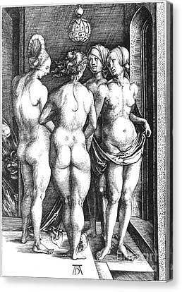 Durer: Four Witches, 1497 Canvas Print by Granger