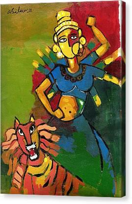 Goddess Durga Canvas Print - Durga by Abdus Salam