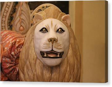 Durga Canvas Print - Durga's Lion, Vrindavan by Jennifer Mazzucco
