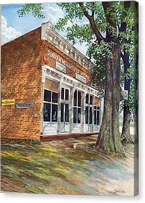 Durham Mercantile  Sold Canvas Print