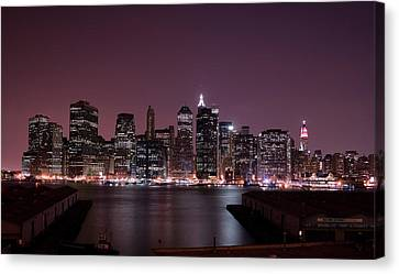 Dusk At Brooklyn Port Canvas Print by Shawn Everhart