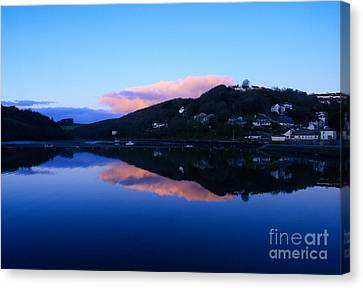 Kernow Canvas Print - Dusk At Looe by Carl Whitfield