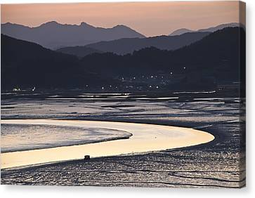 Canvas Print featuring the photograph Dusk At Suncheon Bay by Ng Hock How