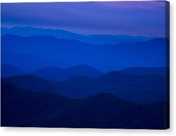 Dusk At The Blue Ridge Canvas Print