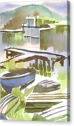 Dusk At The Boat Dock Canvas Print by Kip DeVore
