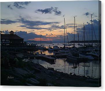 Canvas Print featuring the photograph Dusk Begins To Sleep by Felipe Adan Lerma