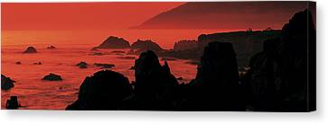 Dusk Headlands Near Pacific Valley Big Canvas Print by Panoramic Images