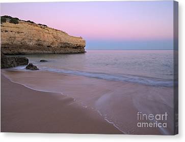 Dusk In Albandeira Beach Canvas Print by Angelo DeVal