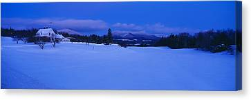 Dusk In Lyndonville, Darling Hill Road Canvas Print by Panoramic Images