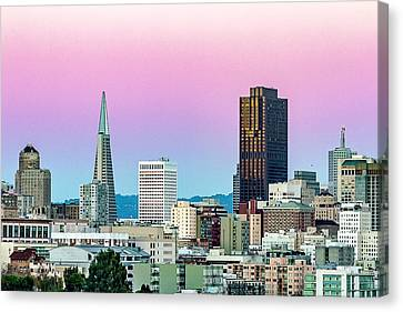 Dusk In San Francisco Canvas Print by Bill Gallagher