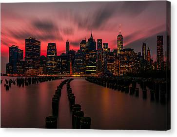 Dusk Manhattan Canvas Print by RC Pics