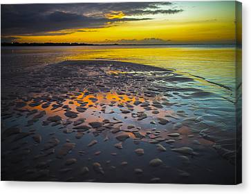 Dusk On Cayo Coco Canvas Print by Valerie Rosen