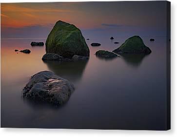 Dusk On Long Island Sound Canvas Print by Rick Berk