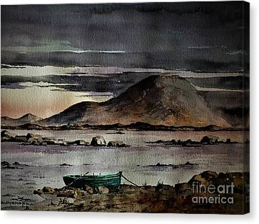 Dusk On Nephin, Cullen, Mayo Canvas Print by Val Byrne