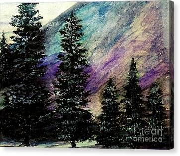Dusk On Purple Mountain Canvas Print by Scott D Van Osdol
