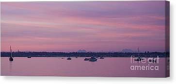 Dusk On The Bay Canvas Print by Idaho Scenic Images Linda Lantzy