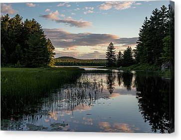 Dusk On The Water Canvas Print by Brent L Ander