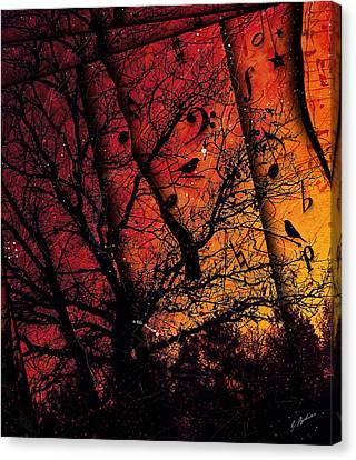 Dusk Song Canvas Print by Gary Bodnar