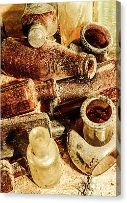Dust Covered Medicine Bottles Canvas Print by Jorgo Photography - Wall Art Gallery