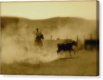 Dust 'n Horses Canvas Print