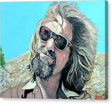Canvas Print featuring the painting Dusted By Donny by Tom Roderick