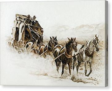 Dusti Trails Canvas Print