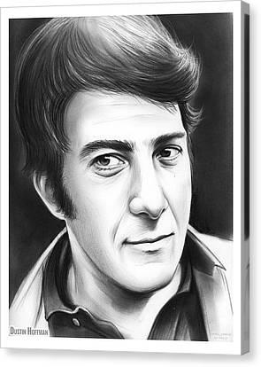Dustin Hoffman Canvas Print by Greg Joens