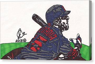 Dustin Pedroia 3 Canvas Print