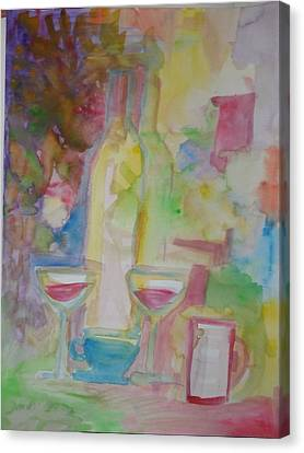 Dusty Bottles Canvas Print by James Christiansen