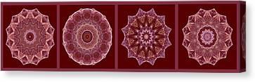Dusty Rose Mandala Fractal Panel Canvas Print