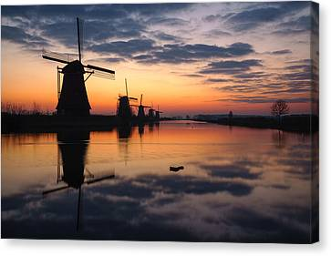 Mills Canvas Print - Dutch Colors by Martin Podt