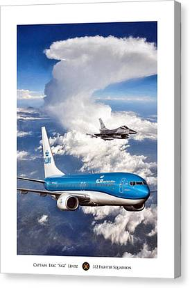 Klm Canvas Print - Dutch Duo by Peter Chilelli