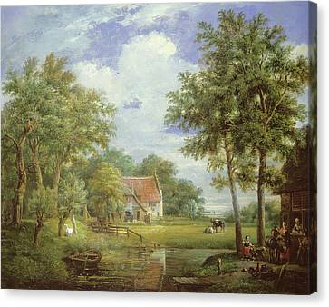 Dutch Farm Scene Canvas Print