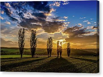 Dutch Moutains At Sunset Canvas Print