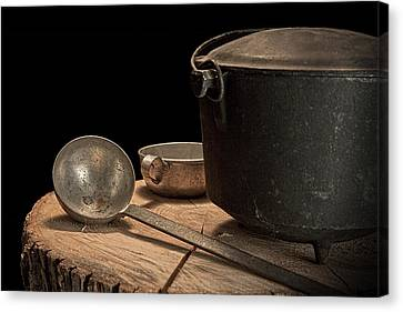 Dutch Oven And Ladle Canvas Print by Tom Mc Nemar