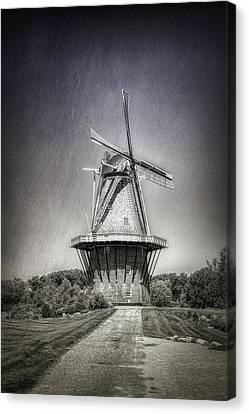Windmills Canvas Print - Dutch Windmill by Tom Mc Nemar