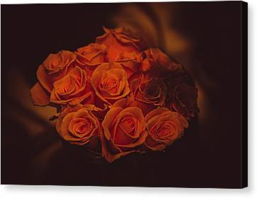 Artistic License Canvas Print - Dutch Yellow Roses by Jenny Rainbow