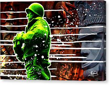 Duty Honor Country Canvas Print by Michael Figueroa