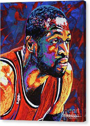 All Star Canvas Print - Dwyane Wade 3 by Maria Arango