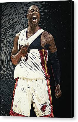 All-star Game Canvas Print - Dwyane Wade by Taylan Apukovska