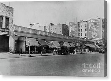 Canvas Print featuring the photograph Dyckman Street, 1927 by Cole Thompson