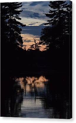 Dying Of The Light In Northern Canada Canvas Print by Sharon Porter