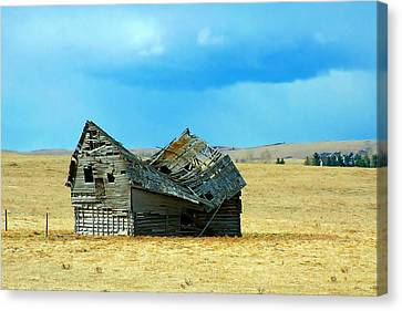 Dying Old Barn Canvas Print by Mario Brenes Simon