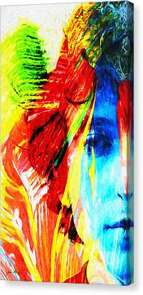 Dylan Goes Electric Canvas Print by John Farr