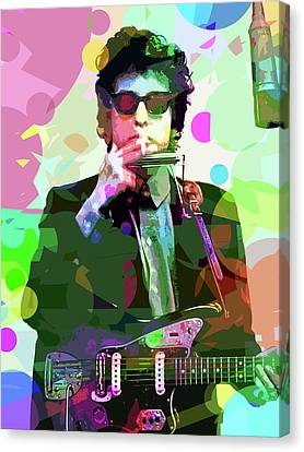 Performers Canvas Print - Dylan In Studio by David Lloyd Glover